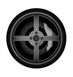 road car rim icon vector image vector image
