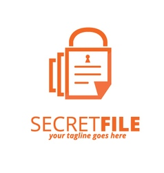 Secret File Logo vector image vector image