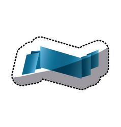 sticker colorful shiny satin ribbon icon vector image vector image