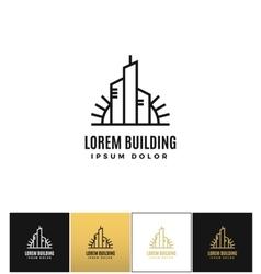 Commercial real estate logo icon vector