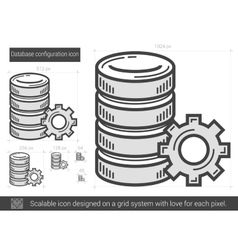 Database configuration line icon vector