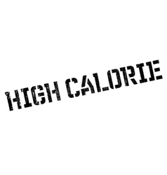 High calorie rubber stamp vector