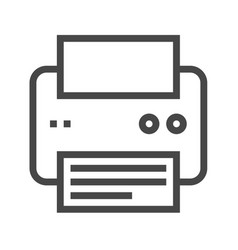 Printer thin line icon vector