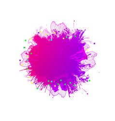 Magic blob artistic background vector
