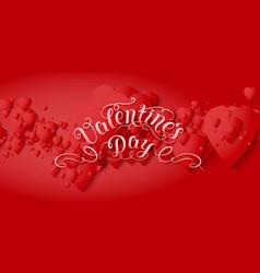 Valentines day card elegant vector