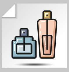 Icons of beauty cosmetics 15 vector