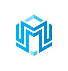 M letter logo template concept vector