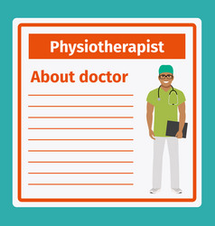 Medical notes about physiotherapist vector