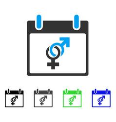 Marriage calendar day flat icon vector