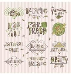 Natural food label vector