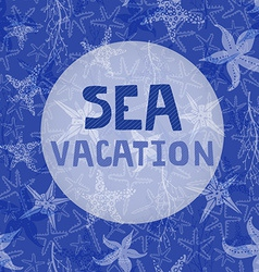 Sea vacation vector