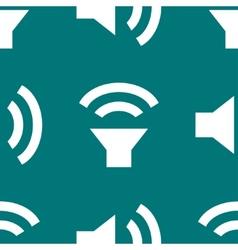 Speaker web icon flat design seamless pattern vector