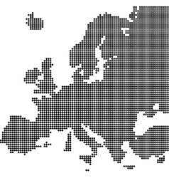 Dotted map of europe vector