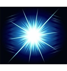 Blue burst exploding background vector