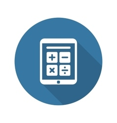 Earnings calculator business icon flat design vector