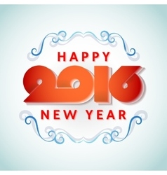 Text design of happy new year 2016 vector