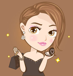 Elegance fashion girl vector