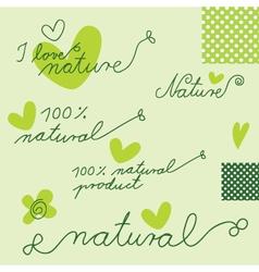 Nature - graphic design elements vector image