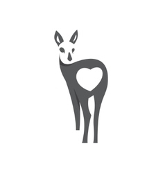 Deer in the negative concept sign animal vector