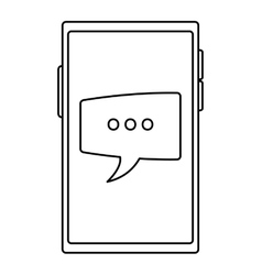 Cellphone conversation bubble vector