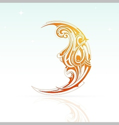 Artistic moon shape vector image