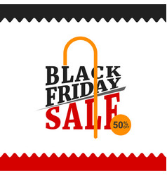 Black friday sale poster with wavy border vector
