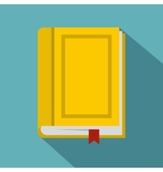 Book icon flat style vector