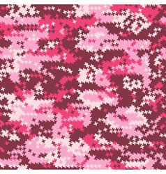 Camouflage pink houndstooth vector