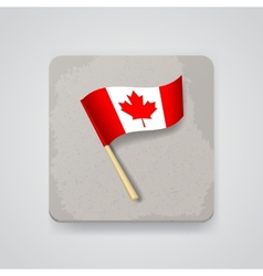 Canada flag icon vector image vector image