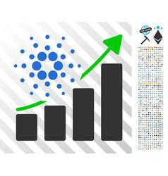 Cardano success chart flat icon with bonus vector