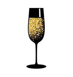 Champagne gold black glass vector