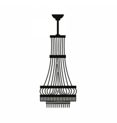 Classic chandelier on white vector image