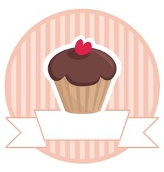 Cupcake banner vector