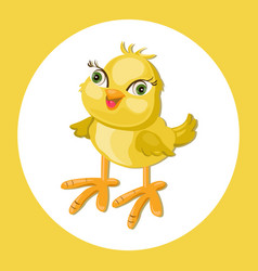 Cute chicken funny cartoon vector