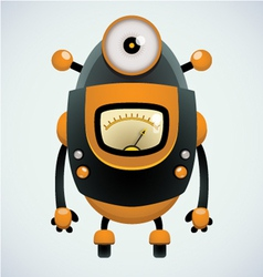 cute retro robot vector image