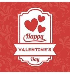 happy valentines day design vector image