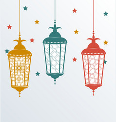 Intricate arabic lamps for ramadan kareem vector