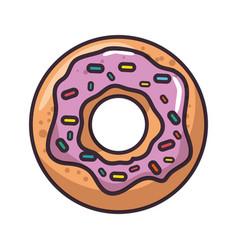 isolated cute doughnut vector image