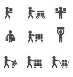 Loader man icons vector