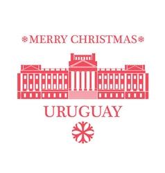 Merry Christmas Uruguay vector image vector image