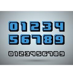 Pixel font alphabet vector