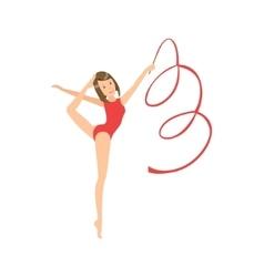 Professional rhythmic gymnastics sportswoman in vector