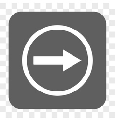 Right Rounded Arrow Rounded Square Button vector image vector image