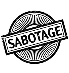 sabotage rubber stamp vector image