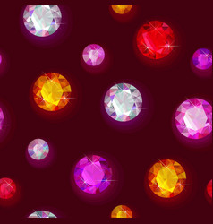 Seamless sparkling gems vector
