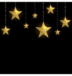 Sparkling gold stars vector