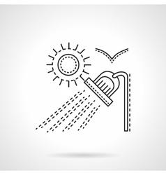 Suburb rest flat line design icon vector
