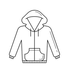 Sweater line icon vector