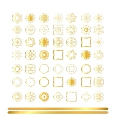Traditional golden decor vector image vector image