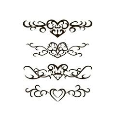 Tribal tattoo stencil vector image